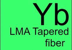 LMA Ytterbium dobed tapered fiber