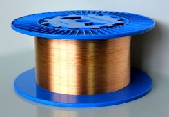 Copper-coated step index multimode silica fibers (Low OH)