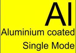 Aluminum-coated single-mode optical fibers