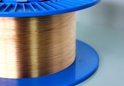 Copper-coated gradient index multimode optical fibers
