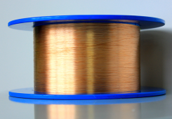 Copper-coated step index multimode optical fibers (High OH)