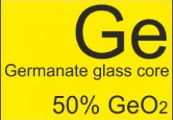 Germanate glass core fiber GDF-SM-3.5/125-50