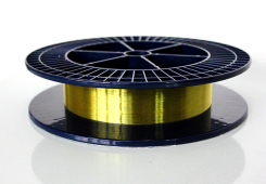 Polyimide-coated F-doped single-mode optical fibers