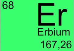 Erbium doped fibers