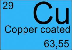 Copper-coated silica fibers